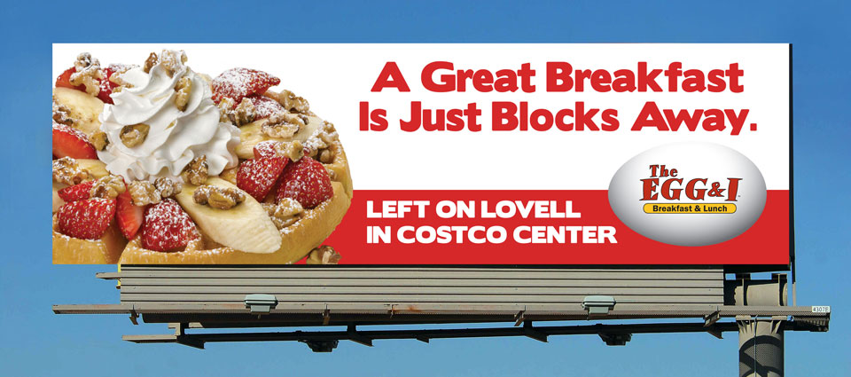 The Egg & I Restaurants Billboard